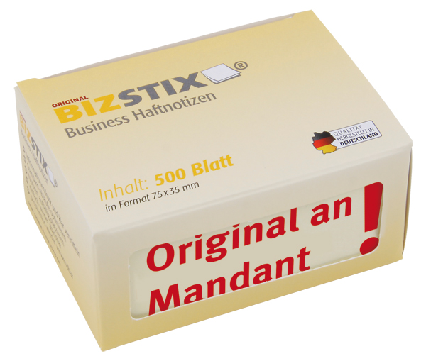 "BIZSTIX® Business Haftnotizen ""Original an Mandant"""