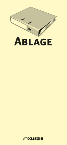 "BIZSTIX® Business Haftnotizen ""Ablage"""