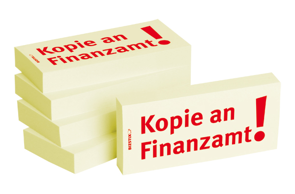 "BIZSTIX® Business Haftnotizen ""Kopie an Finanzamt"""