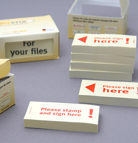 BIZSTIX® Business Sticky Notes in English